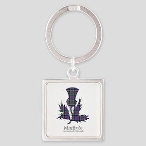 Thistle-MacBride.MacDonaldClanrana Square Keychain