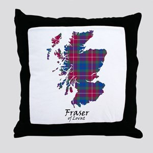 Map - Fraser of Lovat Throw Pillow