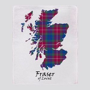 Map - Fraser of Lovat Throw Blanket