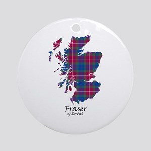 Map - Fraser of Lovat Ornament (Round)
