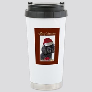 Christmas poodle Stainless Steel Travel Mug