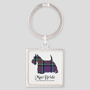 Terrier-MacBride.MacDonaldClanrana Square Keychain