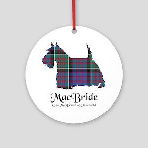 Terrier-MacBride.MacDonaldClanranal Round Ornament