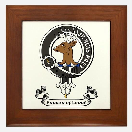 Badge - Fraser of Lovat Framed Tile
