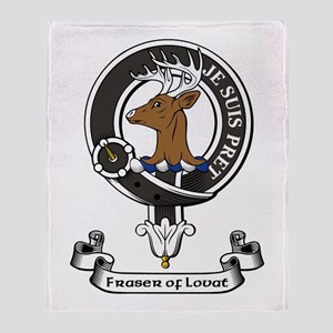 Badge - Fraser of Lovat Throw Blanket