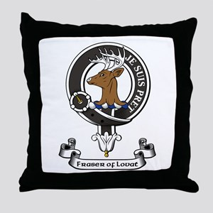 Badge - Fraser of Lovat Throw Pillow