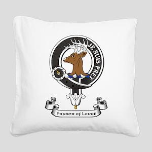 Badge - Fraser of Lovat Square Canvas Pillow