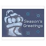 Santa Season's Greetings Small Poster