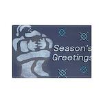 Santa Season's Greetings Rectangle Magnet (10 pack