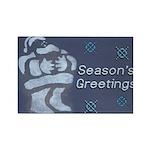 Santa Season's Greetings Rectangle Magnet