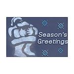 Santa Season's Greetings Mini Poster Print