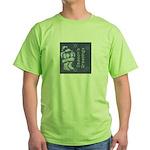 Santa Season's Greetings Green T-Shirt