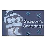 Santa Season's Greetings Rectangle Sticker