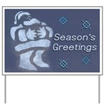 Santa Season's Greetings Yard Sign