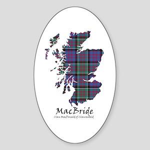 Map-MacBride.MacDonaldClanranald Sticker (Oval)
