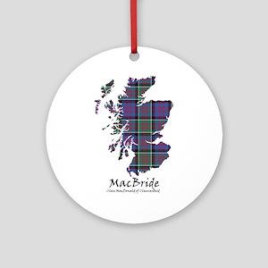 Map-MacBride.MacDonaldClanranald Round Ornament