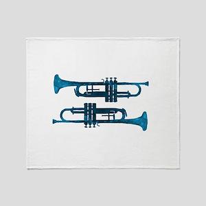 Trumpets Throw Blanket