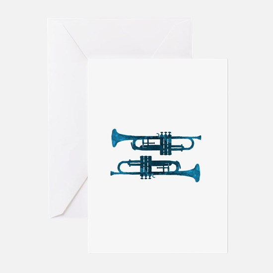 Trumpets Greeting Cards