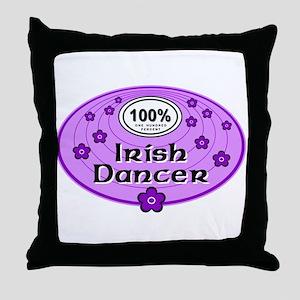 100% Irish Dancer in Purple Throw Pillow