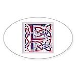 Monogram - Fraser of Reelig Sticker (Oval 50 pk)