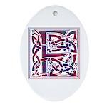 Monogram - Fraser of Reelig Ornament (Oval)