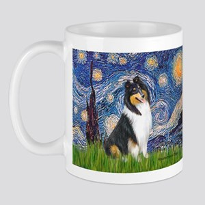 Starry Night / Collie (tri) Mug