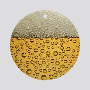 Beer Funny Drinking Party Round Ornament