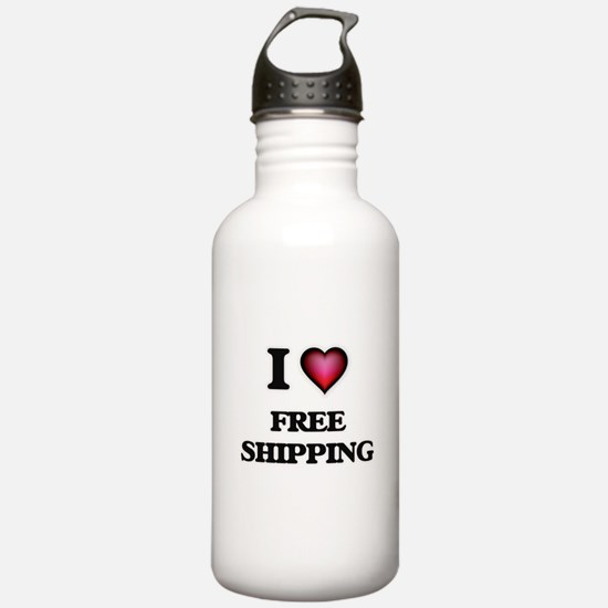 I love Free Shipping Water Bottle