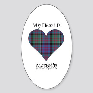 Heart-MacBride.MacDonaldClanranald Sticker (Oval)