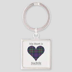 Heart-MacBride.MacDonaldClanranald Square Keychain