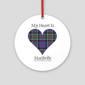 Heart-MacBride.MacDonaldClanranald Round Ornament