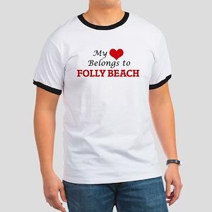 My Heart Belongs to Folly Beach South Caro T-Shirt
