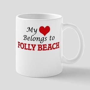 My Heart Belongs to Folly Beach South Carolin Mugs