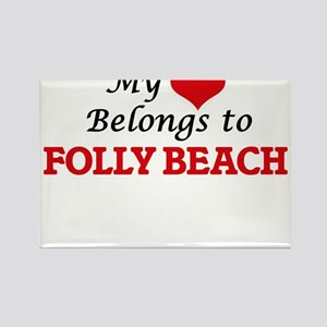 My Heart Belongs to Folly Beach South Caro Magnets