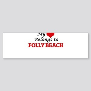 My Heart Belongs to Folly Beach Sou Bumper Sticker