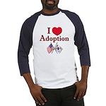 I Love Adoption (Korea/USA) Baseball Jersey