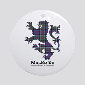 Lion-MacBride.MacDonaldClanranald Round Ornament