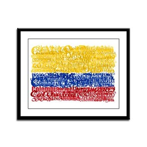 Textual Colombia Framed Panel Print