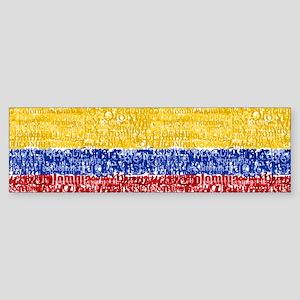 Textual Colombia Bumper Sticker