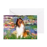 Lilies (2)/Collie (1S) Greeting Card
