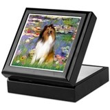 Collie Square Keepsake Boxes