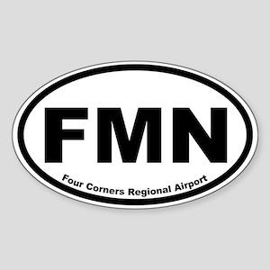 Four Corners Regional Airport Oval Sticker