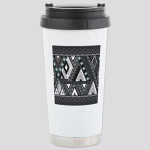 Native Pattern Stainless Steel Travel Mug