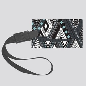 Native Pattern Large Luggage Tag