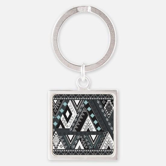 Native Pattern Square Keychain