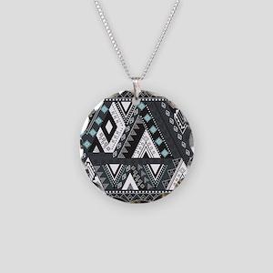 Native Pattern Necklace Circle Charm