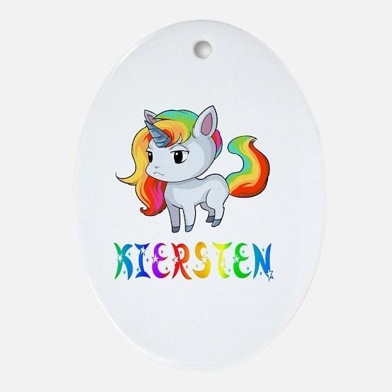 Cute Kiersten Oval Ornament