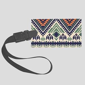 Native Pattern Large Luggage Tag