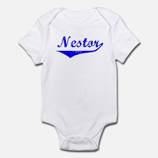 Nestor Vintage (Blue) Infant Bodysuit