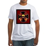 Red cross and flames Fitted T-Shirt